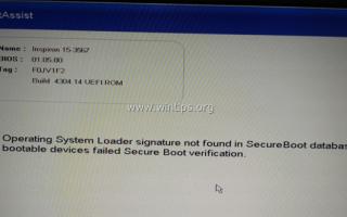 ИСПРАВЛЕНИЕ: Dell Laptop — подпись загрузчика операционной системы не найдена / недействительна. (Раскрыты)