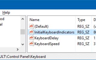 Включить NumLock на экране входа в систему и на экране блокировки по умолчанию