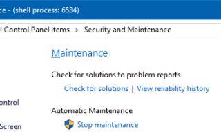 Как отключить автоматическое обслуживание в Windows 10