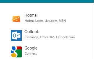 Добавить другую учетную запись почты в Windows Mail Metro