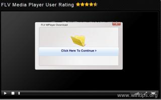 Удалить & ldquo; FLV Media Player Загрузить & rdquo; всплывающий вирус