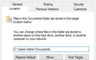 Изменить расположение по умолчанию личных файлов и приложений в Windows 10 (How-to)