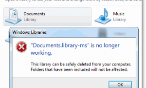 Исправить ошибку Documents.library-ms больше не работает в Windows 7