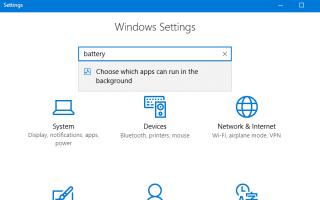 Отключите фоновые приложения для экономии энергии в Windows 10