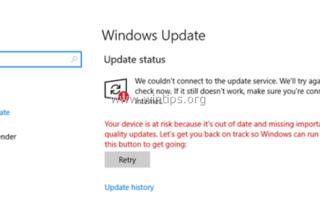 ИСПРАВЛЕНИЕ: Windows 10 Ваше устройство находится в опасности — не удается обновить Windows (решено).