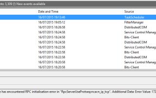 Служба планировщика заданий Windows 8.1 не запускается  