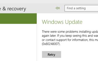 Устранение ошибок Центра обновления Windows в Windows 10
