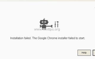 Как исправить: установка Chrome не удалась — установщику Google Chrome не удалось запустить проблему (решено)