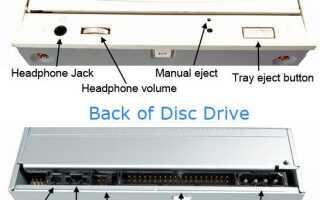 Проверка правильности подключения кабелей CD-ROM