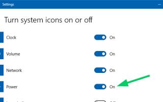 [Исправлено] Значок батареи отсутствует на панели задач в Windows 10