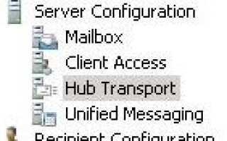 Exchange 2010 не получает внешнюю почту при первой установке.