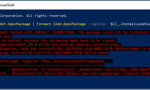 ИСПРАВЛЕНИЕ: Сбой развертывания хоста Windows Shell Experience с HRESULT 0x80073D02 (решено)