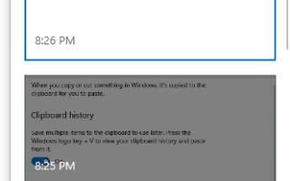 Как очистить историю буфера обмена Windows 10 с помощью ярлыка
