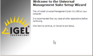 Пошаговая установка IGEL Universal Management Suite