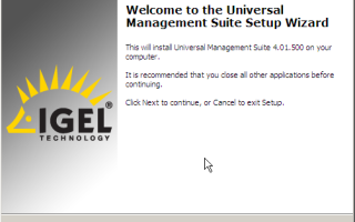 Пошаговая установка IGEL Universal Management Suite