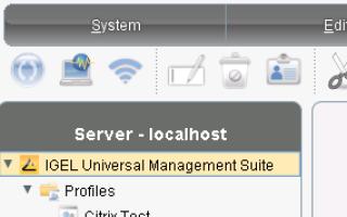Igel — Установить лицензионный ключ UMS |