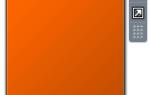Гаджет календаря в боковой панели Windows пуст с оранжевым фоном