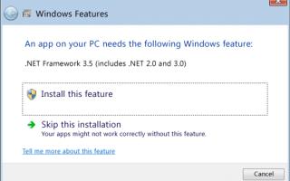 [Исправлено] .NET Framework 3.5 Ошибка 0x800f0950 в Windows 10