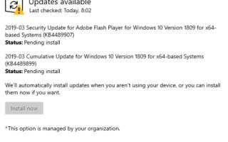 Центр обновления Windows — кнопка «Установить сейчас» недоступна