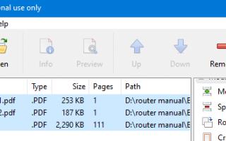 Как объединить или объединить несколько файлов PDF в один PDF