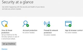 [Исправить] Защитник Windows желтый восклицательный значок и настройка OneDrive Warning