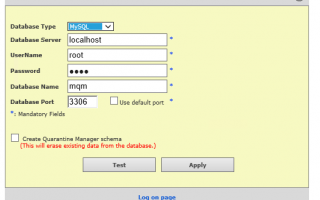 Mcafee Диспетчер карантина SQL Вход в систему |