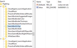 Настройки поиска в Cortana в Windows 10