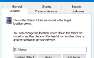 Исправлено: случайно перемещенные видео или другие папки оболочки в D: root