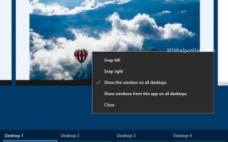 Сделать окно программы видимым на всех виртуальных рабочих столах в Windows 10