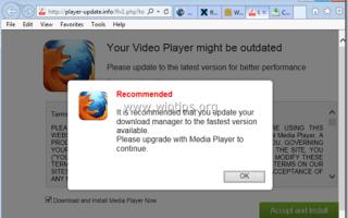 Удалите ваш видео плеер может быть устаревшим вирусом
