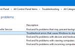 Использование средства устранения неполадок синего экрана (BSOD) в Windows 10