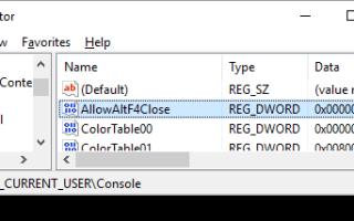 Командную строку Windows 10 можно закрыть с помощью сочетания клавиш ALT + F4