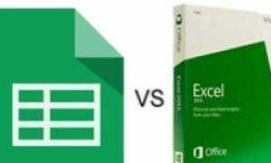 Google Sheets против Microsoft Excel