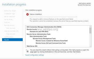 ИСПРАВЛЕНИЕ: невозможно добавить роли и компоненты на Server 2016, поскольку сервер требует перезагрузки (решено)