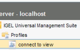 Подключение клиентов IGEL к VMware View Guide