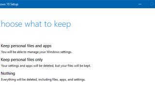 Как сбросить или очистить Установка Windows 10 с помощью перезагрузки этого компьютера