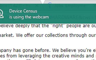 Что такое перепись устройств и почему она использует мою веб-камеру?