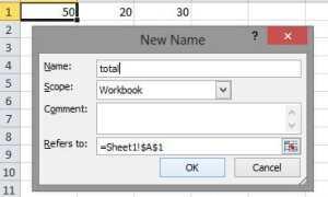 Определите имена и используйте их в Microsoft Excel