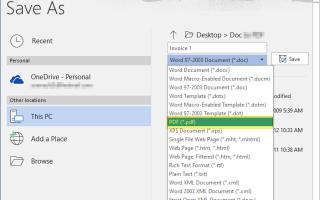 Как Пакетное Преобразование Документов Word в Файлы PDF