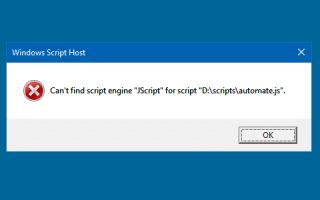 [Исправлено] Не существует скриптового движка для расширения файла .JS — Ошибка