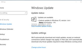 ИСПРАВЛЕНИЕ: Windows 10 Update 1809 не удается установить (решено)