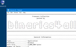 Ошибка: информация о системе не может открыть этот файл NFO