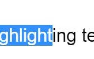 Цветная подсветка текста с использованием HTML и CSS