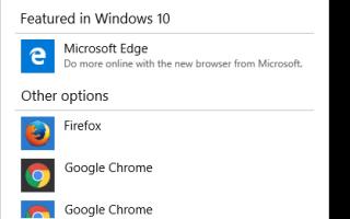 Нажатие гиперссылки в Outlook предлагает выбрать браузер, с IE по умолчанию