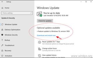 Как загрузить и установить обновление для Windows 10 1909.