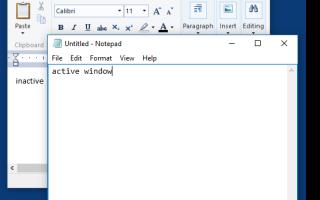 Как изменить цвет неактивной строки заголовка в Windows 10?