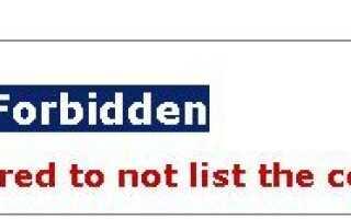 IIs7, ошибка HTTP 403.14 — Запрещено. Веб-сервер настроен так, чтобы не отображать содержимое этого каталога