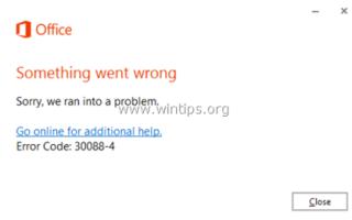 ИСПРАВЛЕНИЕ: Код ошибки установки Office: 30088-4, 30088-1015, 30183-1011, 0-1011, 0-1005.