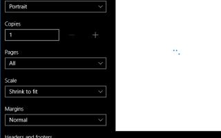 Слишком большой диалог печати в Windows 10. Верните панель печати Windows 8 обратно