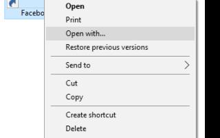 Открывайте файлы .URL (ярлык в Интернете) в любом браузере через контекстное меню